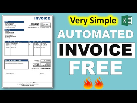 how to create automated invoice in excel    in hindi