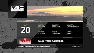 WRC - Rally Italia Sardegna 2018: The 20 Stages