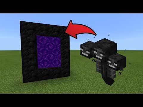 How To Make a Portal to the Wither Dimension in MCPE (Minecraft PE)