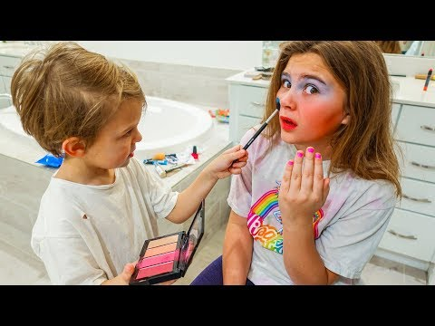 BROTHER DOES MY MAKEUP!! 💄 Surprises Sister!