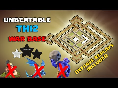Best Th12 War Base 2019 Anti 1 Star 2