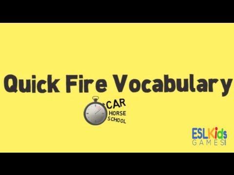 ESL Game : Quick Fire Vocabulary