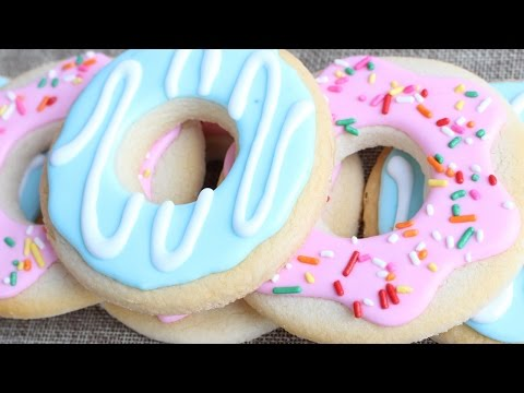 How to make doughnut cookies - Easy cookie decorating with royal icing