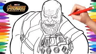 Avengers Infinity War Thanos | Drawing and Coloring Thanos ...