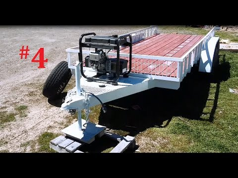 Double Axle Trailer Build With Salvaged RV frame Video 4