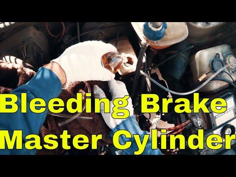 Bleeding Brake Master Cylinder Quick and Easy Closed Loop Method on VW mk1 Rabbit