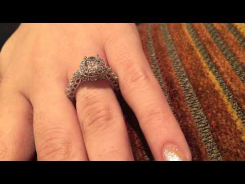 High Quality Cubic Zirconia Round stone .65 Center Solid Platinum Engagement Ring
