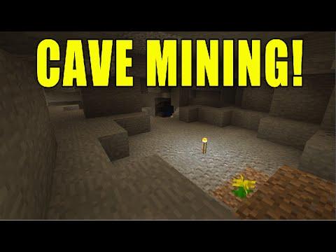Minecraft Xbox - Hardcore Survival -Ep 2 Cave Mining!