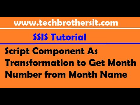 Script Component As Transformation to Get Month Number from Month Name - SQL Server Integration Serv