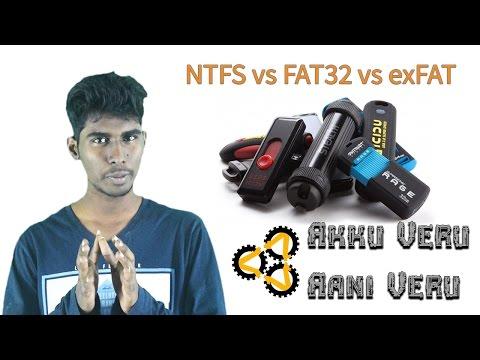 NTFS vs FAT32 vs exFAT | What is File System | Akku Veru Aani Veru | Tamil