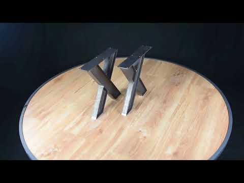 x table legs, pedestal table base
