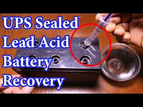 How To Recover UPS OLD Sealed Lead Acid Battery