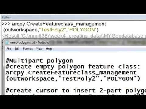 4) Creating Polygon Feature Classes Using Arcpy Scripting