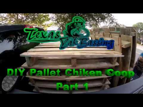 DIY Pallet Chicken coop Part 1