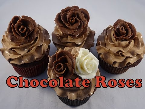 Chocolate Rose Decorations for Cupcakes- with yoyomax12