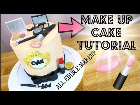 FUN AND EASY MAKE UP CAKE Tutorial!