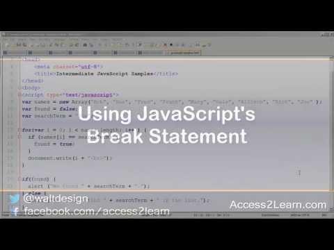 JavaScript: Using the Break Statement