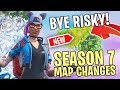 NEW SEASON 7 MAP CHANGES LOCATIONS In FORTNITE BATTLE ROYALE
