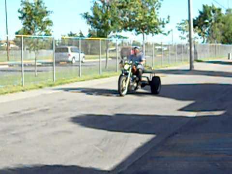 1987 1100 Virago Trike Test run