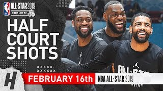 Team LeBron Half Court Shots Contest | February 16, 2019 NBA All-Star Practice