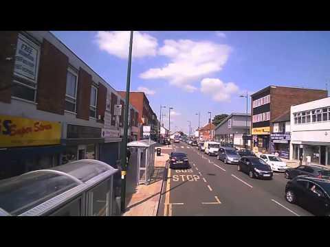 Bromsgrove to Birmingham by Bus, Journey speeded up 10x
