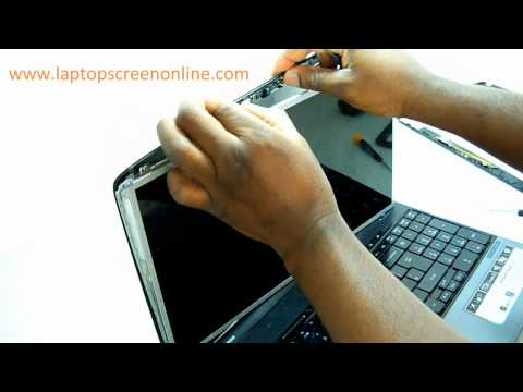 Acer Aspire and Extensa 5235, 5738, 5739, 5740, 5741, 5742 Laptop Screen Removal and Replacement