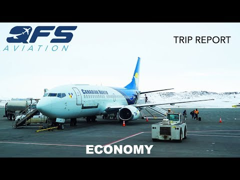 TRIP REPORT   Canadian North Airlines - 737 300C - Iqaluit (YFB) to Ottawa (YOW)   Economy