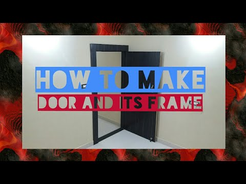 how to make plywood door frame