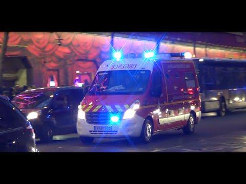Ambulance VSAV + Police Nationale Paris ed Urgence