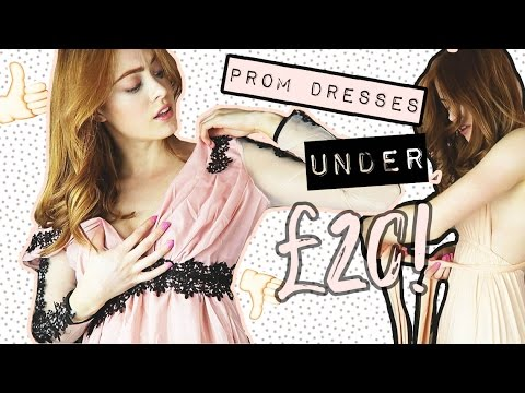 TRYING ON PROM DRESSES UNDER £20 | TRENDY TUESDAY | MsRosieBea