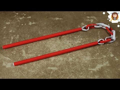 How to Make a Paper Nunchaku - (Ninja Weapons)