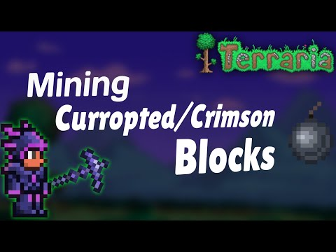 How to Mine Corruption/Crimson block in Terraria | How to get nightmare pickaxe| Terraria