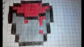 Dibujos Cuadriculados De Minecraft Armas