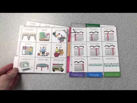 Core Vocabulary Board Binder Ring - AAC Core Board Accommodation