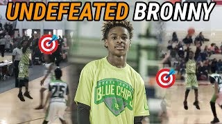 Bronny James Can Shoot From ANYWHERE! Blue Chips Go UNDEFEATED To Win Tournament 👑