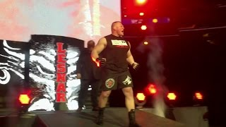 Brock Lesnar battles Kevin Owens at a WWE Live Event in Madison Square Garden