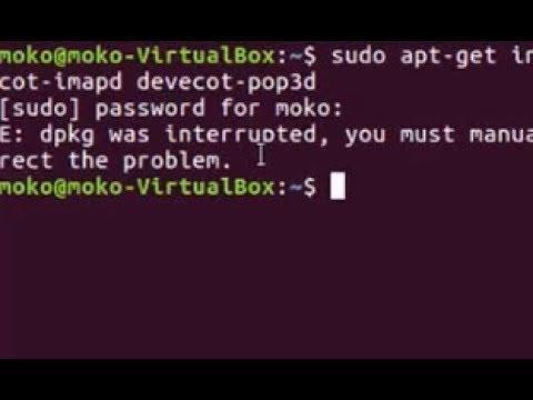 Solve ubuntu error - dpkg was interrupted, you must manually run 'sudo dpkg --configure -a'