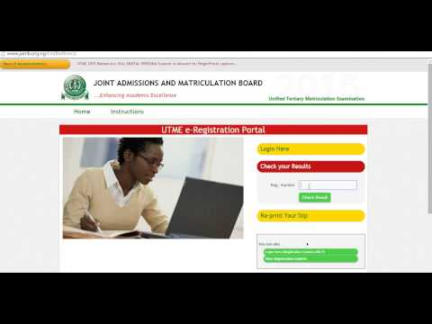 How To Check Jamb Cbt Result 2015 online www.jamb.org.ng