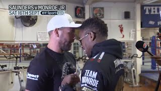 Billy Joe Saunders and Willie Monroe Jr clash at open workout