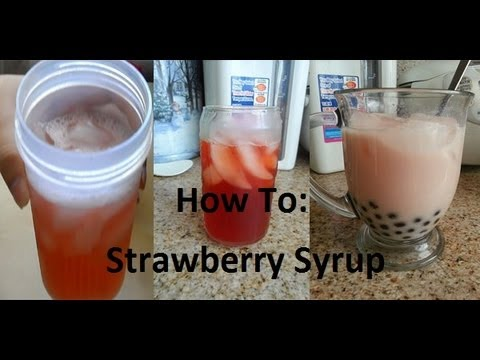How To: Strawberry Syrup