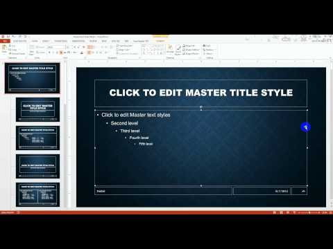 PowerPoint 2013 Slide Master Tutorial