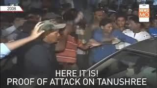 Tanushree Dutta car attack video footage