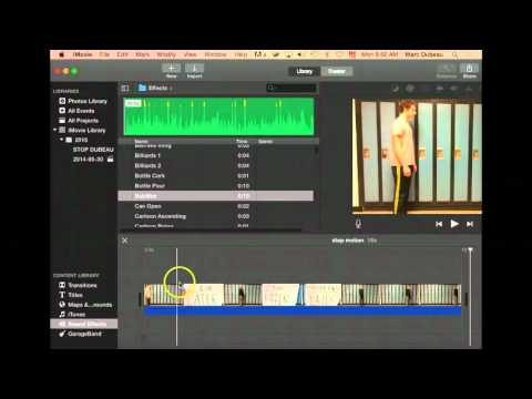 How to add sound effects in Imovie for your stop motion video
