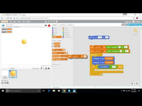Make a Bouncing Ball in Scratch - Episode 3 - Up and Down and Left and Right