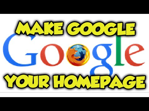 How To Make Google Your Homepage on Mozilla Firefox 2016 - Mozilla Firefox Tutorial 2015