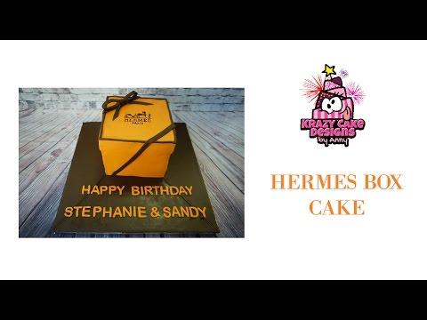 HOW TO make HERMES BOX cake