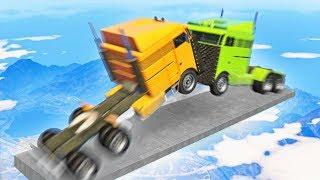 MILE HIGH SEMI TRUCK DERBY! (GTA 5 Funny Moments)