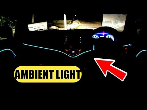 Ambient Light Installation in Any Car in India || Delhi Cheap Accessories for Car