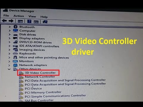 3D video controller device driver warning Device Manager