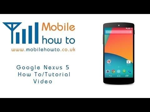 Screen Lock/Security Options -  Google Nexus 5